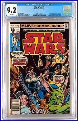 Star Wars # 7 And 9 CGC 9.0 9.2 1 Comic Lot Set, Not 9.8 / CBCS