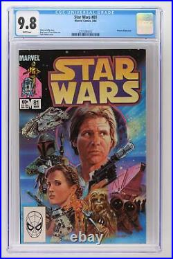 Star Wars #81 Marvel 1984 CGC 9.8 Return of Boba Fett
