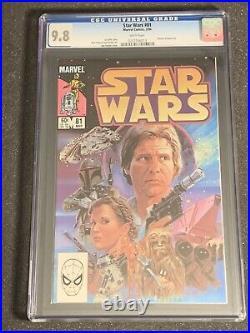 Star Wars #81 Marvel Comics 1984 CGC 9.8 White Pages Return of Boba Fett 42 68