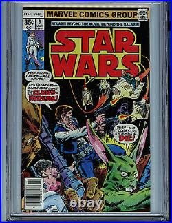 Star Wars #9 CGC 9.8 NM/MT 1978 Marvel Comics Amricons K4