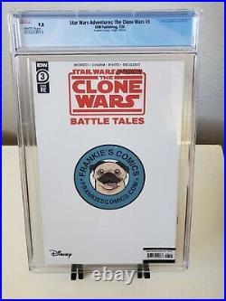 Star Wars Adventures Clone Wars 3 CGC 9.8 Peach Momoko Virgin Variant Darth Maul