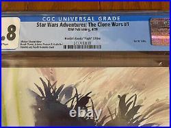 Star Wars Adventures The Clone Wars #1 CGC 9.8 IDW Peach Momoko Yoda Variant