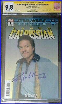 Star Wars Age of Rebellion Lando #1 CGC 9.8 SS Signed by Billy Dee Williams