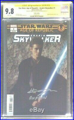 Star Wars Age of Republic Anakin Skywalker CGC 9.8 Signed Hayden Christensen