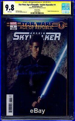 Star Wars Anakin Skywalker #1 PHOTO VARIANT CGC SS 9.8 signed Hayden Christensen