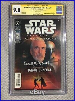 Star Wars Attack Of The Clones #2 Ian McDiarmid CGC SS 9.8 Dark Horse Comics