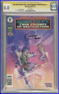 Star Wars Boba Fett #1 CGC 8.0 Signed by Jeremy Bulloch (Retired from signing!)