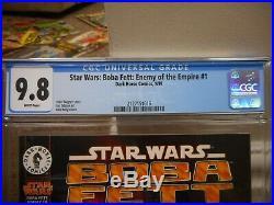 Star Wars Boba Fett Enemy of the Empire 1 cgc 9.8 Dark Horse 1999 Darth Vader