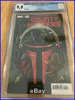 Star Wars Bounty Hunters #1 150 CGC 9.8 NM/MT Johnson Boba Fett cover Marvel