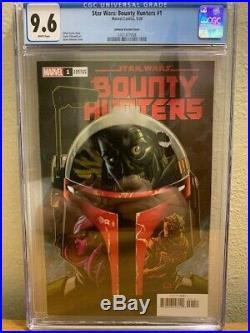 Star Wars Bounty Hunters #1 CGC 9.6 NM+ Johnson Boba Fett Variant 150 HOT