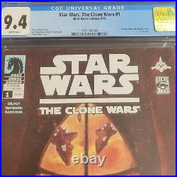 Star Wars Clone Wars 1 CGC 9.4 First Appearance Ahsoka Tano in Dark Horse Comics