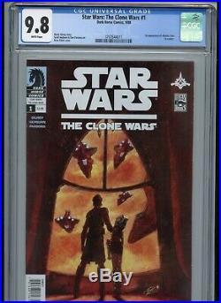 Star Wars Clone Wars #1 CGC 9.8 White 1st Ahsoka Tano Captain Rex