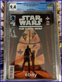 Star Wars Clone Wars 1 cgc 9.4 First Appearance Of Ahsoka Tano Super Hot Book