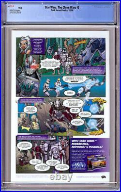 Star Wars Clone Wars #3 Cgc 9.8 White Pages Ahsoka Tano 2008