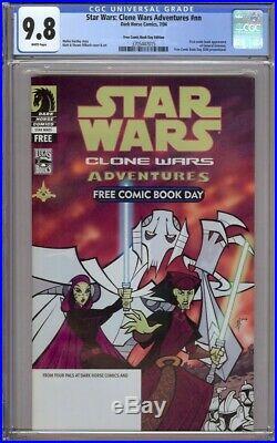Star Wars Clone Wars Adventures Fcbd Dark Horse Cgc 9.8 1st General Grievous