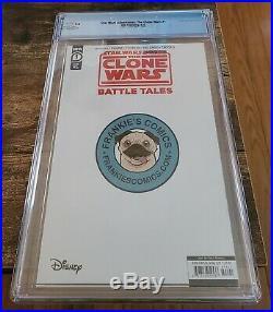 Star Wars Clone Wars Battle Tales #1 CGC 9.8 Peach Momoko Yoda Variant In Stock