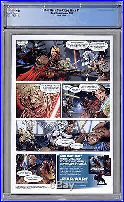 Star Wars Clone Wars (Dark Horse) 1B 2008 Battle Variant CGC 9.8 2011710010