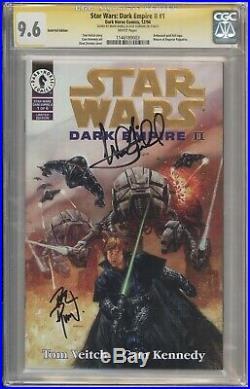 Star Wars Dark Empire II #1 Gold Edition CGC 9.6 Signed Hamill and Dorman