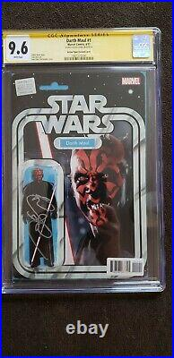 Star Wars Darth Maul #1 9.6 CGC SS Ray Park signed Action Figure Variant