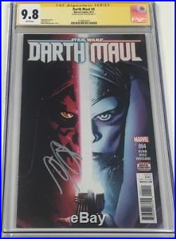 Star Wars Darth Maul #4 Signed by Ray Park CGC 9.8 SS