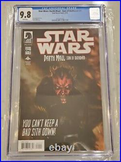 Star Wars Darth Maul Son of Dathomir #1 CGC 9.8 1st Dark Saber