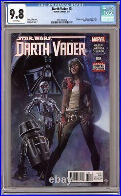 Star Wars Darth Vader #3A Granov Variant 1st Printing CGC 9.8 2015 3701246006