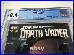 Star Wars Darth Vader 3 CGC 9.4 Larroca 125 Variant 1st Doctor Aphra