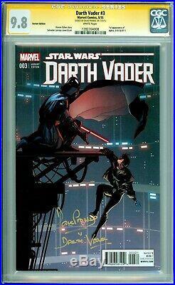 Star Wars Darth Vader #3 Cgc 9.8 Ss Signed David Prowse Larroca Variant