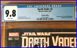 Star Wars Darth Vader 3, Variant Edition, CGC 9.8 NM/MT, 1st Dr Aphra