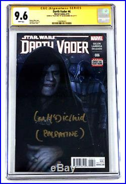 Star Wars Darth Vader #6 9.6 CGC SS Marvel Comic Book Signed By Ian McDiarmid