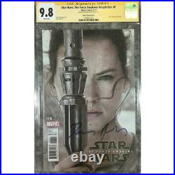 Star Wars Force Awakens #6 photo cover CGC 9.8 SS Signed by Daisy Ridley