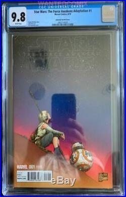 Star Wars Force Awakens Adaptation #1 Cgc 9.8 Joe Quesada 1100 Color Variant