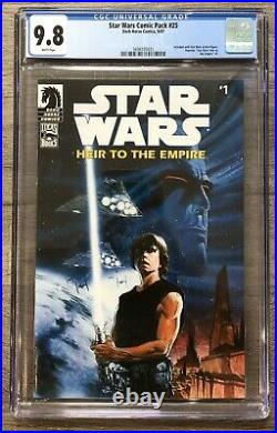 Star Wars Heir To The Empire #1 CGC 9.8 Comic Pack #25 Variant, 1st Thrawn, RARE
