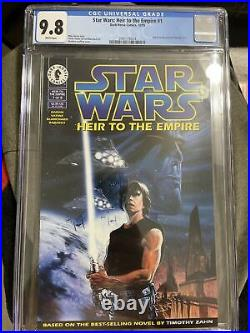 Star Wars Heir To The Empire #1 Cgc Graded 9.8 White Pages Grand Admiral Thrawn