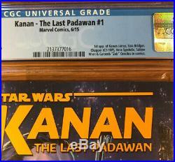 Star Wars Kanan The Last Padawan #1, CGC 9.8, graded NM/MT, 1st Sabine Wren