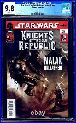Star Wars Knights of the Old Republic #42 CGC 9.8 ORIGIN OF REVAN NM/MT