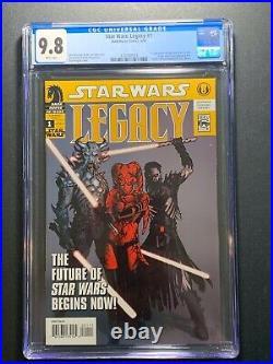 Star Wars Legacy #1 1st Printing CGC 9.8 (Dark Horse 2006) 1st Cade Skywalker
