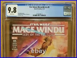 Star Wars Mace Windu #5 Cgc 9.8 1st Ahsoka Tano & Asajj Ventress In Marvel Canon