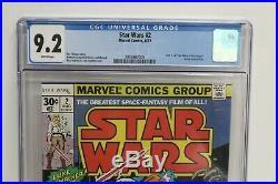 Star Wars (Marvel) #2 1977 1st Printing CGC 9.2 Part II of Star Wars New Hope