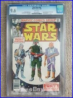 Star Wars Marvel #42 CGC 9.6 First Appearence Boba Fett White Pages ESB