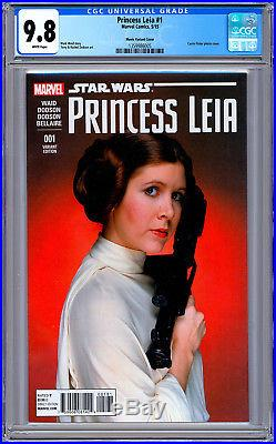 Star Wars Princess Leia #1 Cgc 9.8 Carrie Fisher 1977 Actress Foto Cover 2015