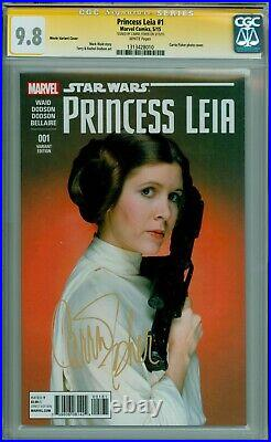 Star Wars Princess Leia #1 Cgc-ss 9.8 Sig Carrie Fisher Movie Variant