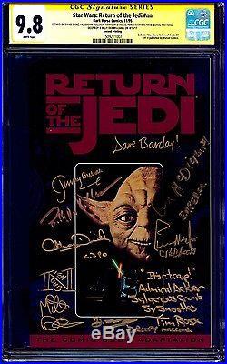 Star Wars Return of the Jedi CGC SS 9.8 signed x9 Williams Daniels McDiarmid