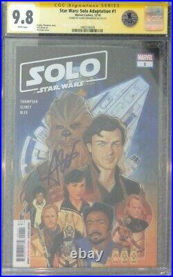 Star Wars Solo Adaptation #1 CGC 9.8 SS Signed by Alden Ehrenreich