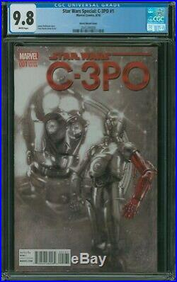 Star Wars Special C-3PO #1 CGC 9.8 11000 Tony Harris Sketch Variant red arm