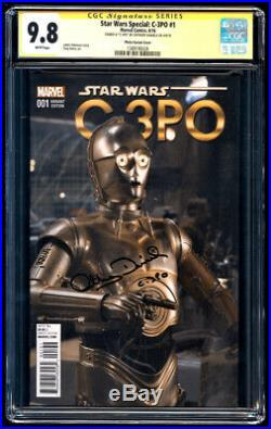 Star Wars Special C-3PO #1 Photo SS CGC 9.8 Anthony Daniels Signature Series