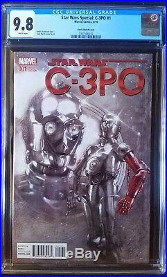 Star Wars Special C-3PO (2016) #1 Harris Red Arm Variant CGC 9.8 11000