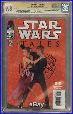 Star Wars Tales #15 Photo Variant CGC 9.8 Signed by Hamill and Fisher RARE