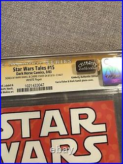 Star Wars Tales #15 Signed Carrie Fisher Mark Hamill CGC SS 9.8 Dark Horse