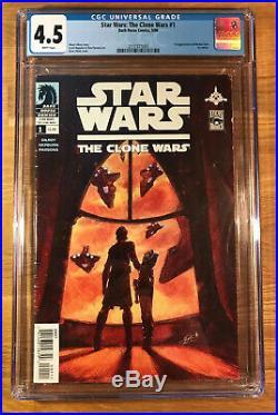 Star Wars The Clone Wars #1, 1st appearance of Ahsoka Tano, CGC 4.5